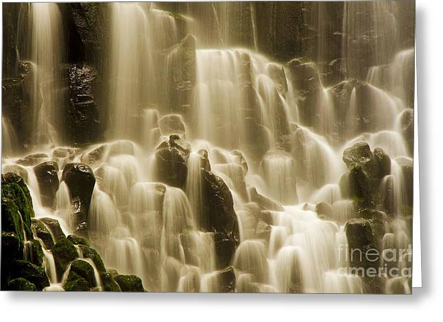 Greeting Card featuring the photograph Cascading by Nick  Boren