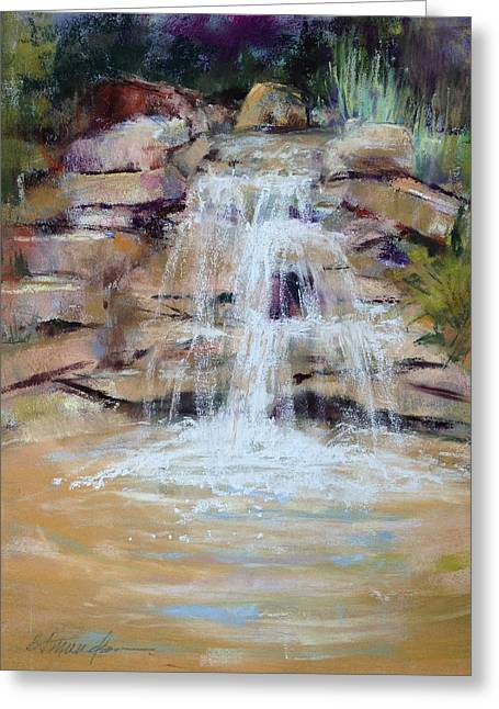 Cascading Water Greeting Card by Beverly Amundson
