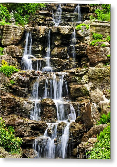 Cascading Waterfall Greeting Card by Elena Elisseeva