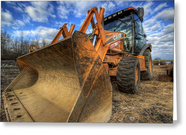 Case Backhoe Greeting Card