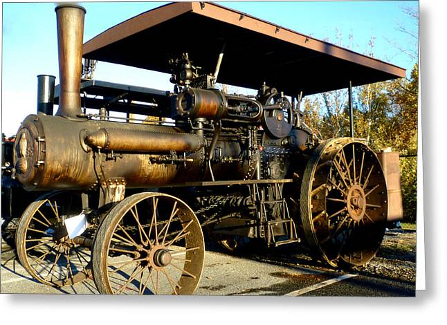 Case Steam Tractor Greeting Card by Pete Trenholm