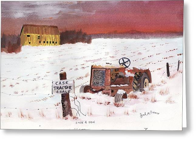 Case Tractor 4 Sale Greeting Card