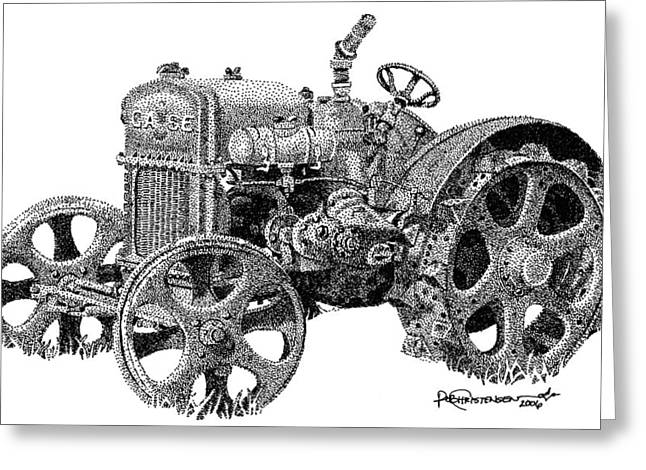 Case Tractor Greeting Card by Rob Christensen