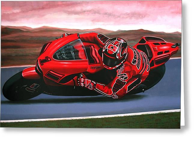 Casey Stoner On Ducati Greeting Card