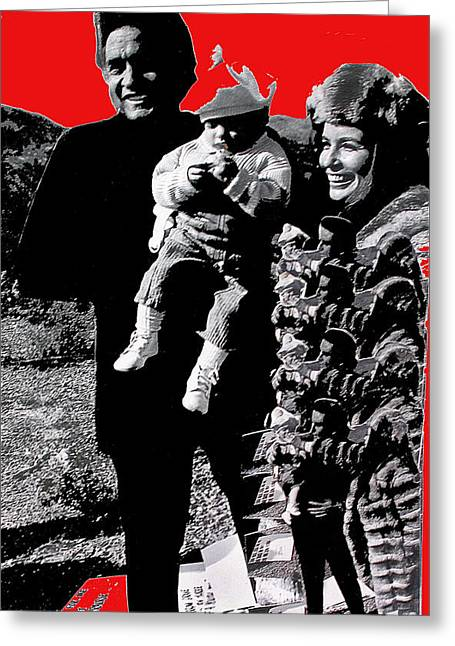 Greeting Card featuring the photograph Cash Family In Red Old Tucson Arizona 1971-2008 by David Lee Guss