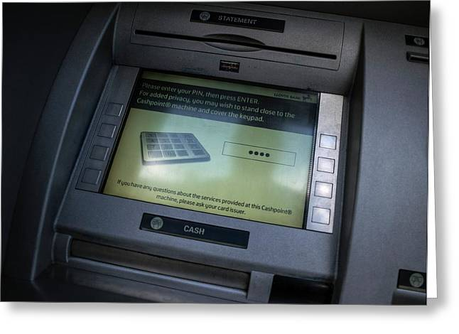 Cash Point Greeting Card by Robert Brook