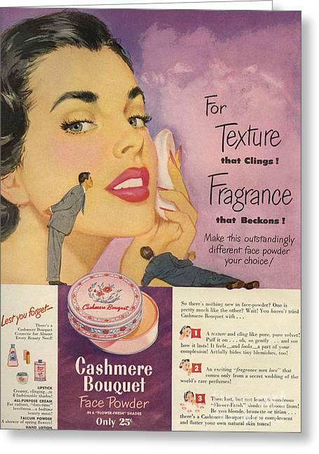 Cashmere Bouquet 1950 1950s Usa Makeup Greeting Card