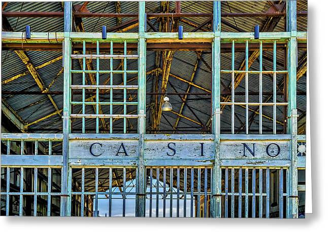 Casino Asbury Park New Jersey Greeting Card by Susan Candelario