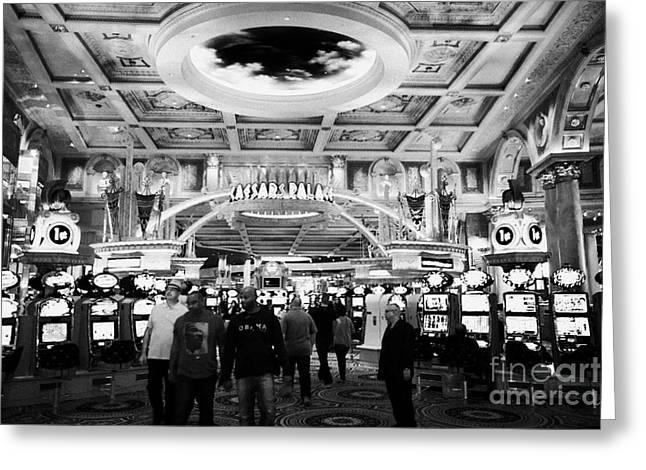 casino floor of caesars palace luxury hotel and casino Las Vegas Nevada USA Greeting Card