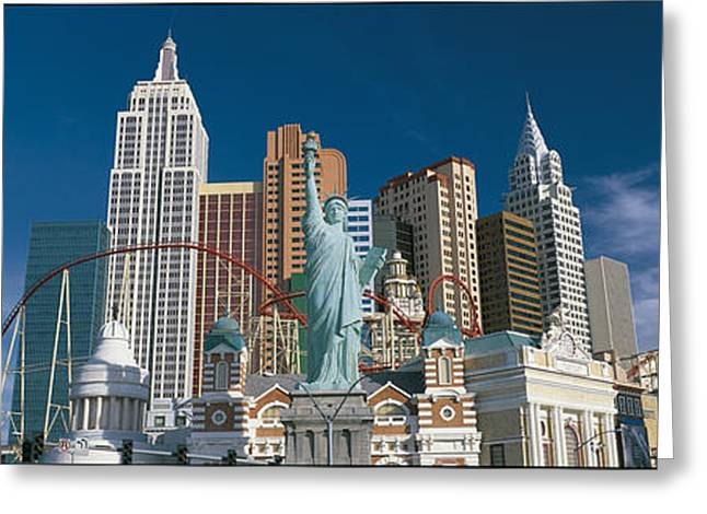 Casino Las Vegas Nv Greeting Card by Panoramic Images