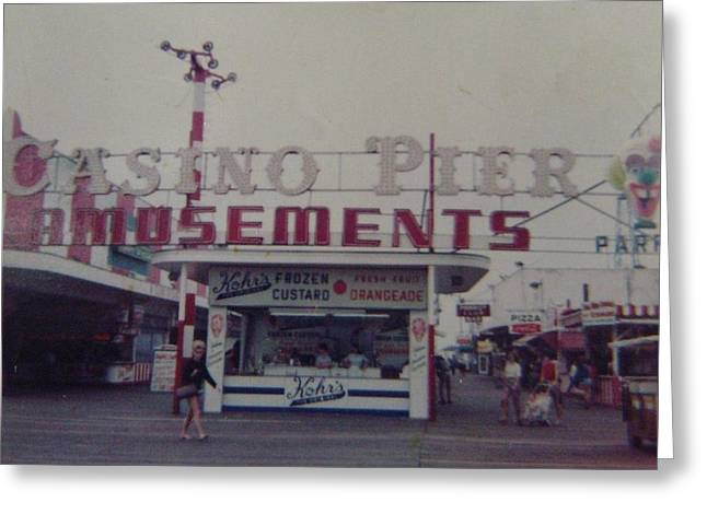 Casino Pier Amusements Seaside Heights Nj Greeting Card by Joann Renner