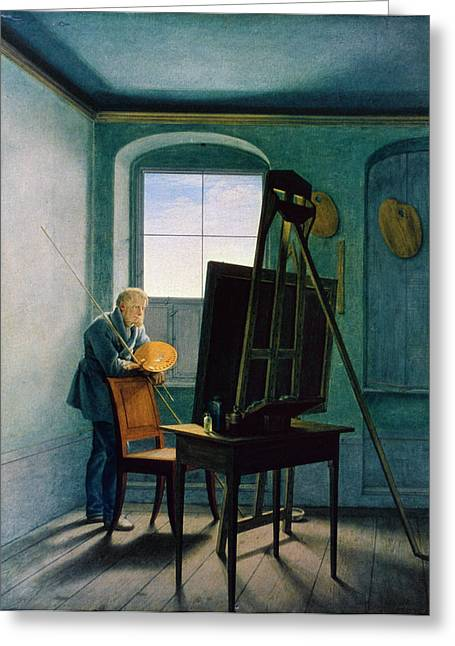 Caspar David Friedrich (1774-1840) Greeting Card by Granger