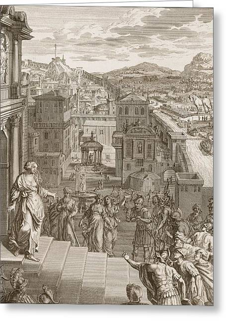 Cassandra Foretells The Trojans Their Greeting Card