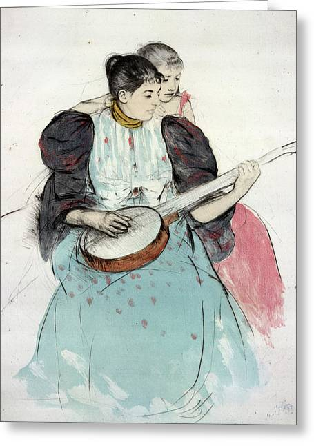 Cassatt Banjo Lesson Greeting Card by Granger