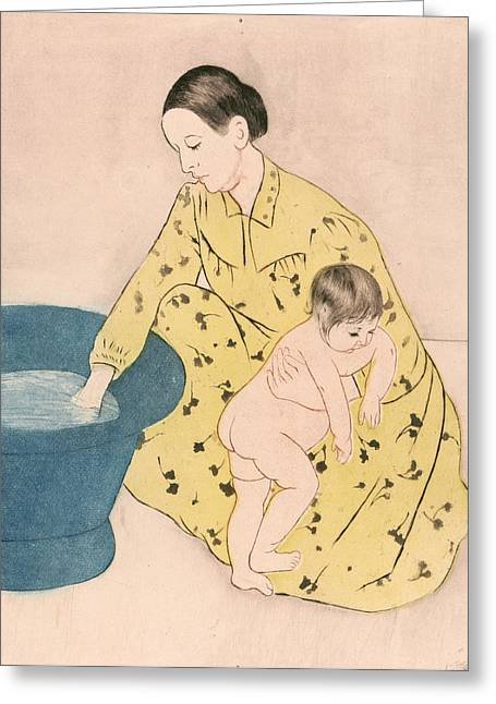Cassatt Bath, 1891 Greeting Card by Granger