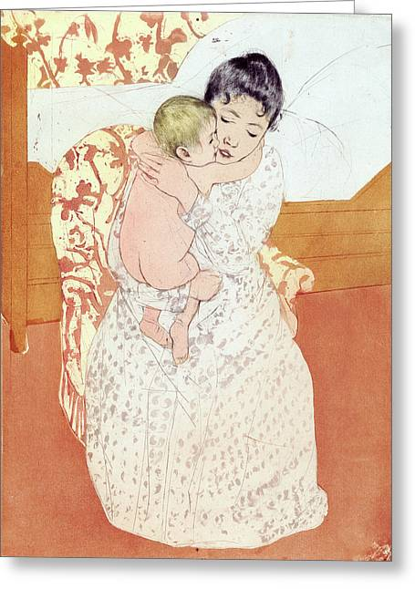Cassatt Caress, 1891 Greeting Card by Granger