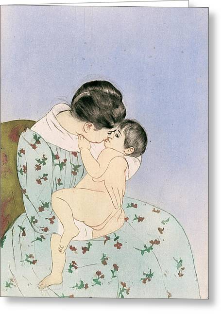 Cassatt Mother, 1891 Greeting Card by Granger