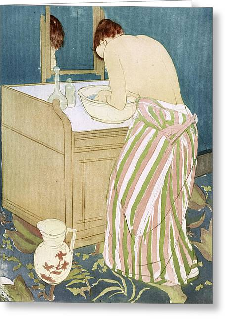 Cassatt Toilette, 1891 Greeting Card by Granger