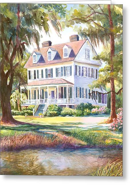 Cassina Point Edisto Island Sc Greeting Card by Alice Grimsley