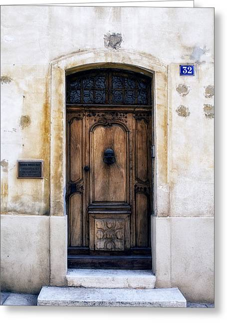 Cassis Door Number 32 Greeting Card