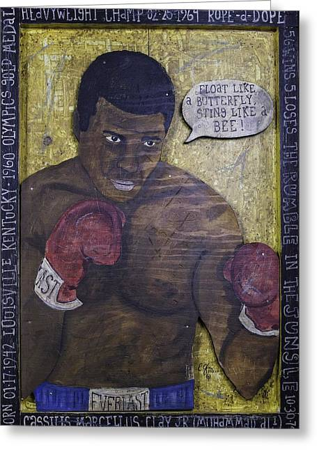 Cassius Clay - Muhammad Ali Greeting Card