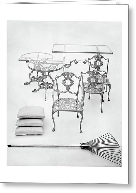Cast Aluminum Furniture By Molla Greeting Card