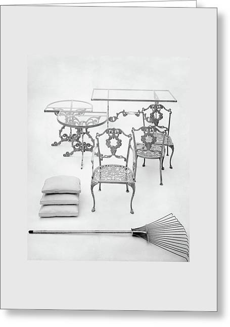 Cast Aluminum Furniture By Molla Greeting Card by Haanel Cassidy