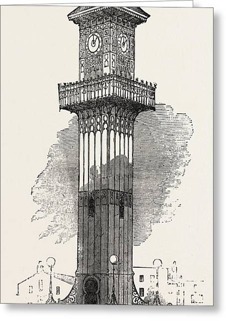 Cast Iron Clock-tower For Geelong 1854 Greeting Card