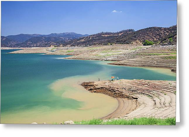 Castaic Lake, A Terminus Of The West Greeting Card