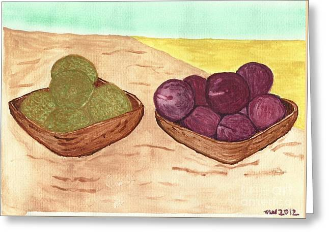 Castaway Fruit Greeting Card