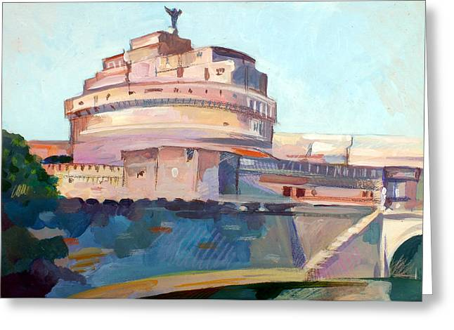 Castel Sant' Angelo Greeting Card by Filip Mihail