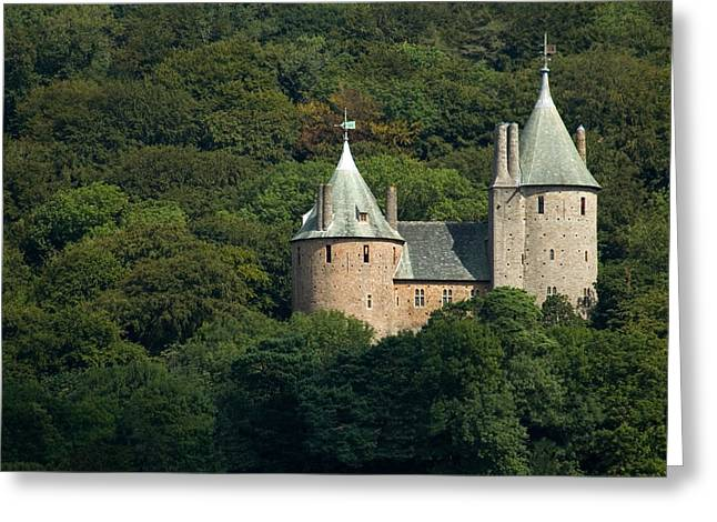 Greeting Card featuring the photograph Castell Coch by Jeremy Voisey