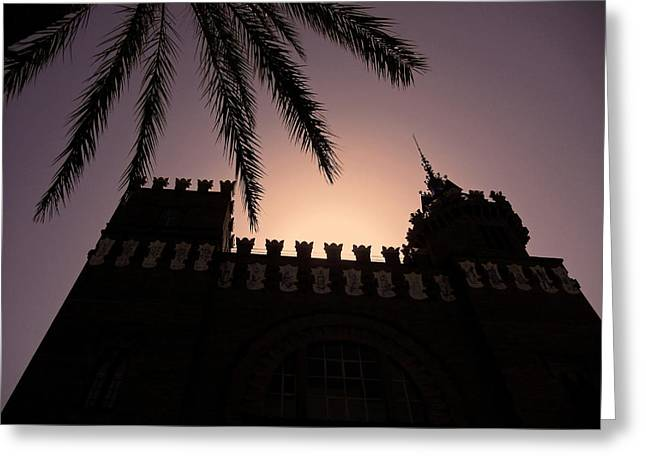 Castell Dels Tres Dragons ... Greeting Card by Juergen Weiss