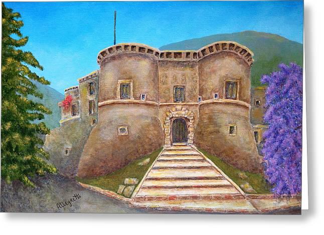 Castello Ducale Di Faicchio Greeting Card by Pamela Allegretto