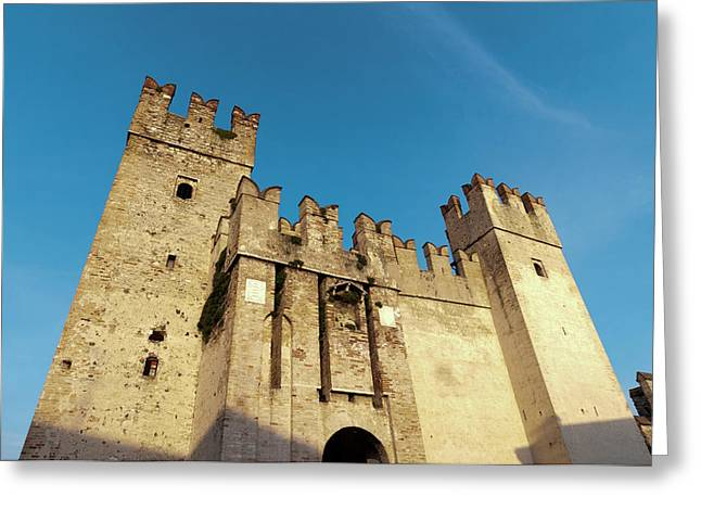 Castello Scaligero, Sirmione, Lago Di Greeting Card by Sergio Pitamitz