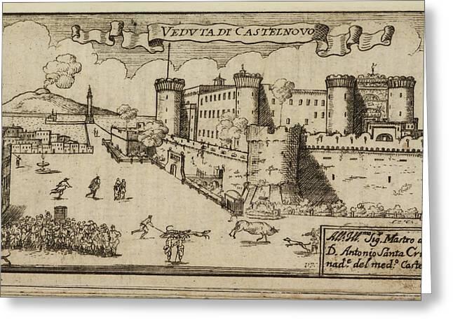 Castelnovo A Hilltop Fort Greeting Card