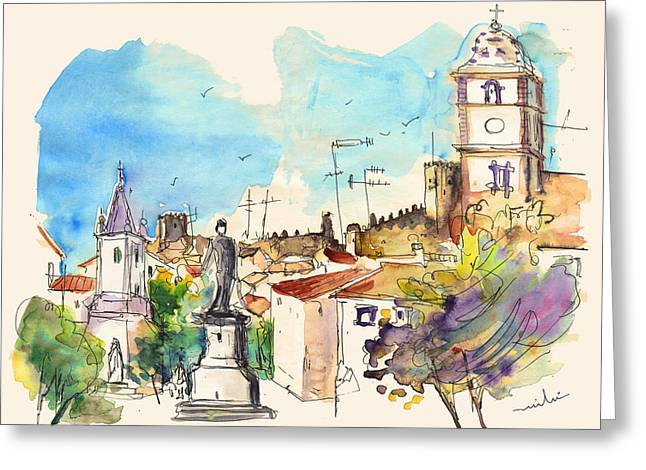Castelo De Vide In Portugal 03 Greeting Card by Miki De Goodaboom