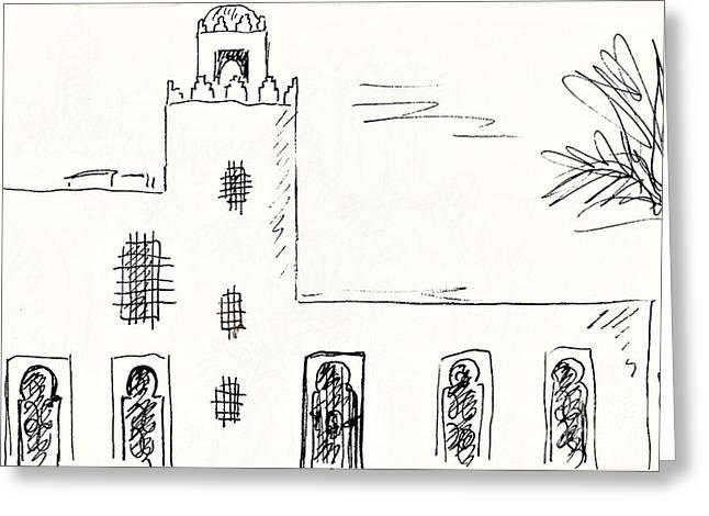 Castillo Bil Bil In Benalmadena  Greeting Card