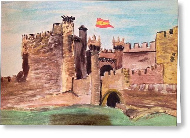 Castillo De Ponferrada Greeting Card