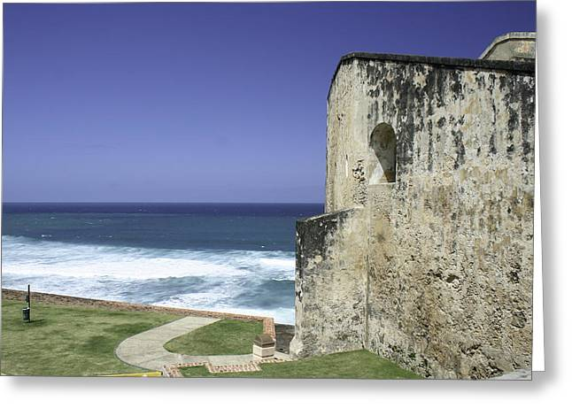 Castillo De San Cristobal Puerto Rico Greeting Card