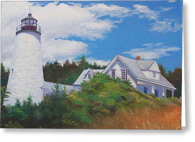 Castine Light Greeting Card by Judith McKenna