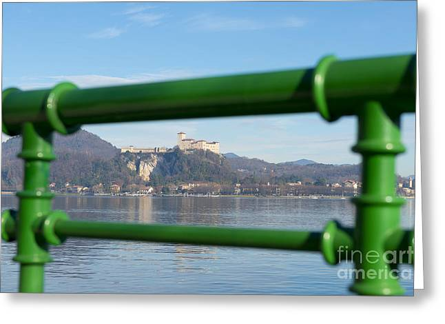 Castle And Banister Greeting Card by Mats Silvan