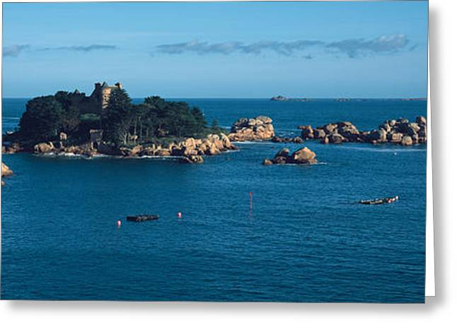 Castle At The Coast, Costaeres Castle Greeting Card by Panoramic Images