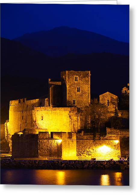 Castle At The Waterfront, Chateau Greeting Card by Panoramic Images