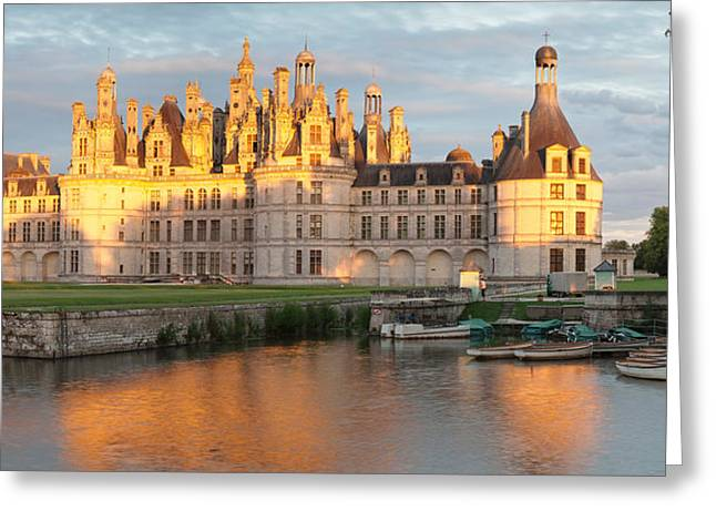 Castle At The Waterfront, Chateau Royal Greeting Card