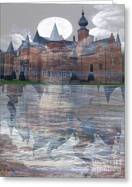 Castle Book Cover Illustration Greeting Card