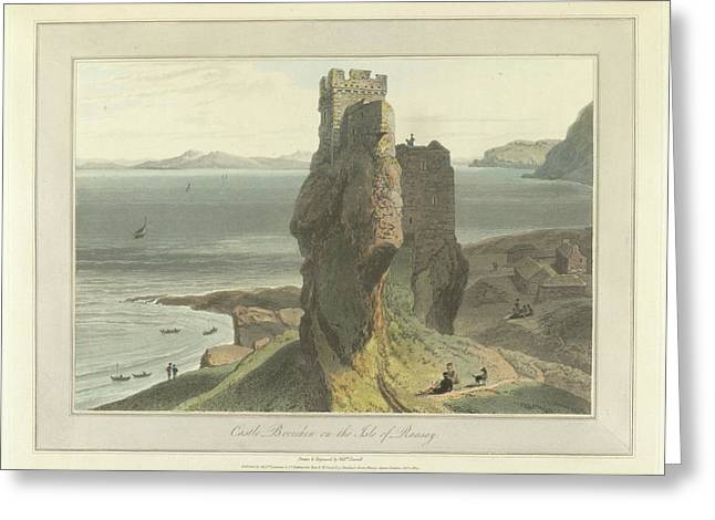 Castle Broichin On The Isle Of Rasay Greeting Card