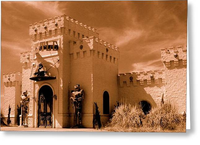 Greeting Card featuring the photograph Castle By The Road by Rodney Lee Williams