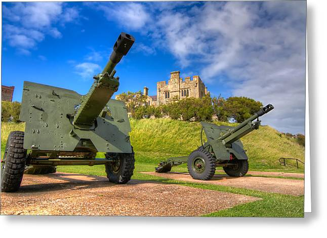 Greeting Card featuring the photograph Castle Cannons by Tim Stanley