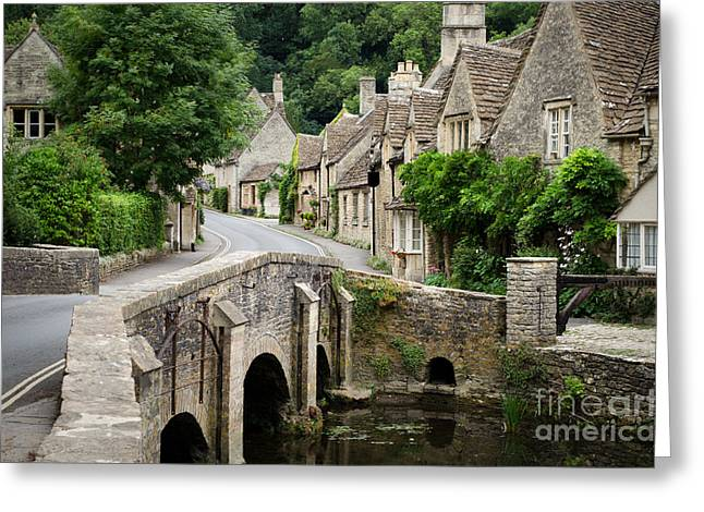 Castle Combe Cotswolds Village Greeting Card by IPics Photography